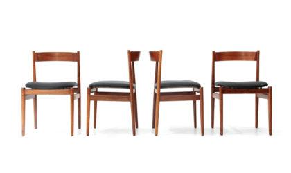 4 sedie '101' di Gianfranco Frattini per Cassina anni 50, chairs, italian design, mid-century modern, 50s, black, collectible, wooden