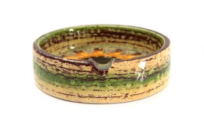 Posacenere in ceramica smaltata colorata 'Sahara' di Aldo Londi per Bitossi anni 60, pitcher, enameled ceramic, italian design, mid-century modern, 60s