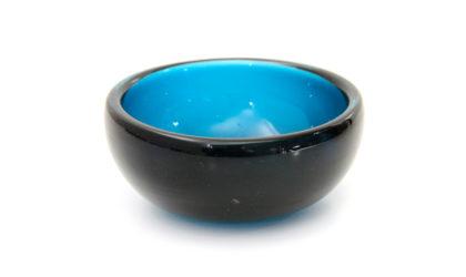 Ciotola in vetro blu di Venini anni 60, murano glass bowl, italian design, mid-century modern, 60s, fontana arte, blue