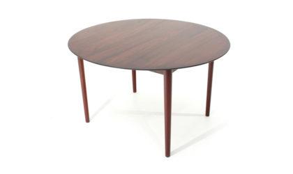 Tavolo '311' con piano rotondo di Peter Hvidt & Orla Molgaardt per Søborg anni 50, dining table, design, mid-century modern, 50s, vintage, Denmark