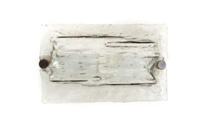 4 applique con vetro a corteccia di Toni Zuccheri per Venini anni 70, sconces, ceiling lamp, vintage, gio ponti, bark glass murano