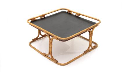 Tavolino quadrato in rattan di Tito Agnoli per Bonacina anni 60, coffe table, italian design, mid-century modern, 60s, Albini, gervasoni, longhi
