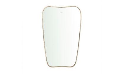 Specchio con cornice in ottone anni 50, brass frame mirror, italian design, mid-century modern, 50s, gio ponti, fontana arte