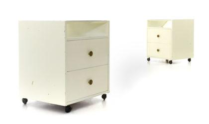 Coppia di comodini di Carlo de Carli per Sormani anni 50, bed side table, italian design, mid-century modern, 50s, vintage, white lacquered