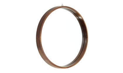Specchio rotondo con cornice in legno anni 50, wood round mirror, italian design, mid-century modern, 50s, ico parisi, cassina, isa