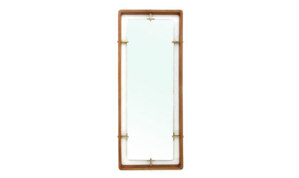 Specchio rettangolare di Sant'Ambrogio e De Berti anni 50, wooden frame mirror, italian design, mid-century modern, 50s, teak, vintage, sottsass