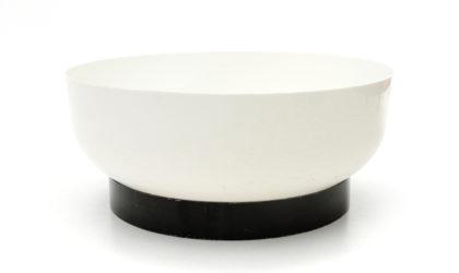 Grosso portavasi in abs bianco e nero anni 60, wall mirror, italian design, mid-century modern, 60s, artemide, sergio asti