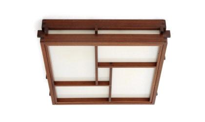 Plafoniera in legno e metacrilato bianco anni '60, wall lamps, 60s, mid-century modern, italian design, ceiling, japan style, oriental