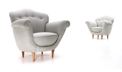 Coppia di poltrone 'Adalgisa' di Ferdinanda Walcher per Walcher anni '50, armchairs, 50s, mid-century modern, italian, vintage, gio ponti