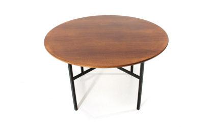 Tavolo con piano circolare in legno di Florence Knoll per Knoll anni '50, dining table, 50s, mid-century modern, american, vintage