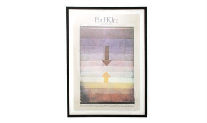 Poster della mostra di Paul Klee a Firenze nel 1981 progetto di Pierluigi Cerri per Electra anni 80, , italian, mid-century modern, 80s