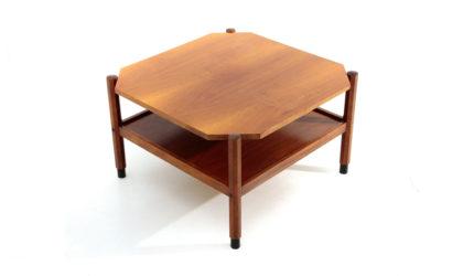 Tavolino quadrato in teak anni 60, coffee table, italian design, mid-century modern, 60s, vintage,teak,