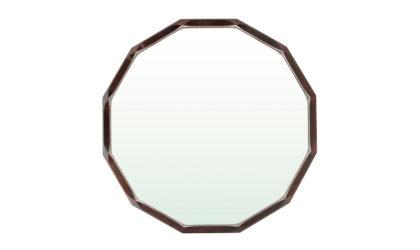 Specchio Con Cornice In Legno Sfaccettato Della Tredici anni '60, mirror, wood, modernist, italian, midcentury modern, rosewwod