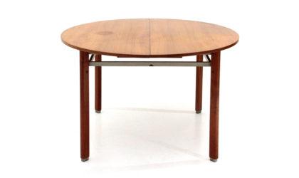 Tavolo con piano tondo allungabile anni '50, dining table, italian, midcentury modern, gio ponti, cassina, barovero
