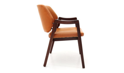 Sedia in pelle con braccioli di Ico Parisi per Cassina anni '60, chair, Italian design, midcentury modern,leather, 60s,