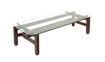 Tavolino da salotto in vetro e legno di Ico Parisi per Cassina anni '60, coffee table, Italian design, midcentury modern, 50s, glass and wood, modernist