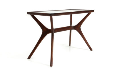 Tavolino da salotto in vetro e legno anni '50, coffee table, Italian design, midcentury modern, 50s, glass and wood, cesare lacca, Guglielmo ulrich