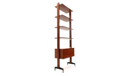 Libreria con cassetti e mensole anni '50, mid century wall unit, bookcase, italian modern design, wood, 50's, 60', franco albini