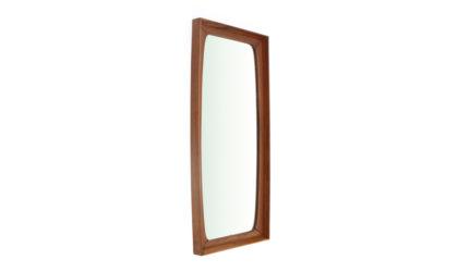 Specchio rettangolare con cornice in legno di teak anni 60, mirror, italian design, mid-century modern, 60s, vintage, rectangular
