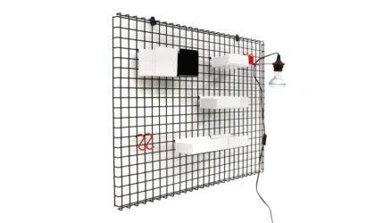 Rete attrezzata postmoderna di Boccato Gigante Zambusi per Seccose anni '80, vintage, postmodern, italian design, metal, wall unit
