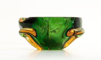 Portacenere in vetro di murano colorato anni '50, mid-century modern, 50s, murano glass, italian design, ashtray, venini, barovier e toso, vistosi