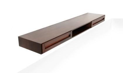 Consolle pensile con 2 cassetti anni '60, sideboard, mid-century modern, 60s, wood, italian design, ico parisi, gio ponti