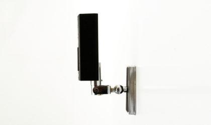 Applique in metallo nero di Stilnovo anni '60, wall lamp, mid-century modern, 60s, metal, black, vintage, sconce
