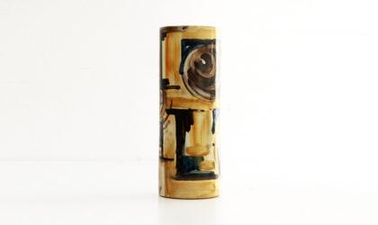 Vaso in ceramica Giuseppe Barile di Albisola anni 50, 50s, ceramic vase, italian design, flower pot, capogrossi, fontana, salino, jorn, lam