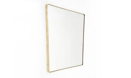 Specchio trapezoidale con cornice in ottone anni 50, brass mirror, 50s, gio ponti, italian design, mid-centuy modern, vintage