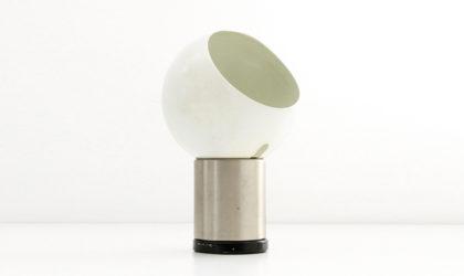 Lampada da tavolo con diffusore orientable di Gaetano Scolari per Valenti anni 70, table lamp, space age, italian design, mid-century modern