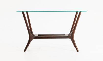 Tavolino in legno con piano in vetro anni 50, coffee table, 50s, italian design, cesare lacca, Ostuni, gio ponti, wood, glass