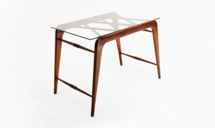 Tavolino in legno e vetro anni '40, coffee table, italian modern, art decò, 40s, 50s, melchiorre bega, gio ponti, paolo buffa, guglielmo ulrich