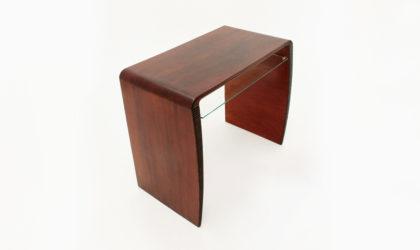 Consolle Scrivania razionalista con mensola in vetro anni 40, 40s, modernist, console, desk, gio ponti, franco albini, italian modern design