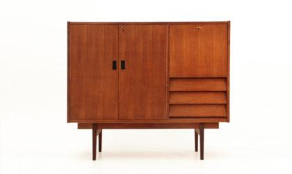 credenza con cassetti e mobile bar anni '60, sideboard, higboard, 60s, italian design, mid-century modern, poggi, albini, parisi