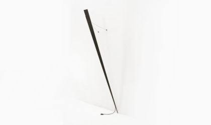 Applique 'Torchere' di Gilles Derain per Lumen center anni 80, post modern wall lamp, minimalist, black, metal, applique, nera, moderna