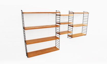 Libreria Modulare pensile 'the ladder shelf' di Nisse Strinning per String anni 60, shelving unit, 60s, nordic design, mid-century, vintage, modular