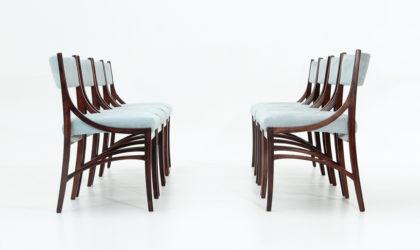 8 sedie in velluto di Ico Parisi per Spartaco Brugnoli anni 50, dining chairs set, italian design, velvet, mid-century modern, cassina, 50s, vintage