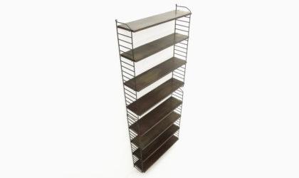 Doppia libreria pensile con mensole anni 60, vintage, shelving unit, bookcase, 60s, italian modern, svedish design, mid-century