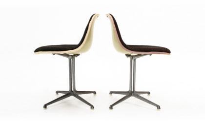 Coppia di sedie 'La Fonda' di Charles & Ray Eames per Herman Miller anni 60, chairs, 60s, black, aluminium, american design, mid-century modern