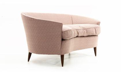 Divano Due Posti Curvo anni '40, curved sofa, 40s, italian design, 50s, gio ponti, cesare lacca, vintage, mid-century modern, fagiolo